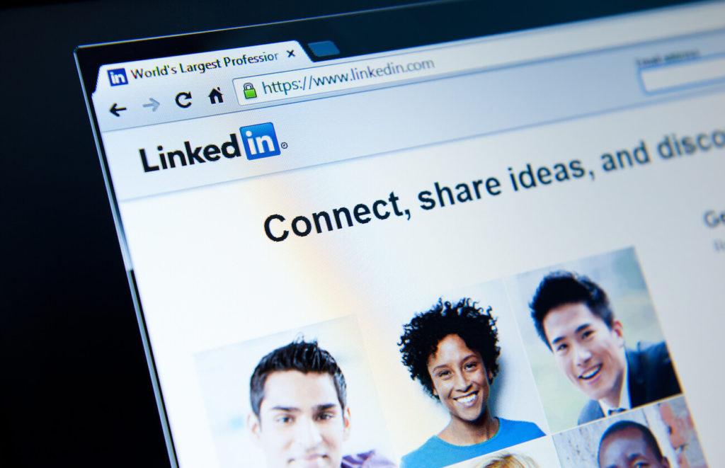 Photo of LinkedIn website